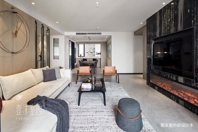 145平米现代简约——客厅图片