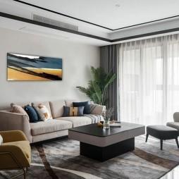 90后小夫妻的婚房,时尚轻奢、优雅高级——客厅图片