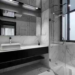 140平米现代简约——卫生间图片