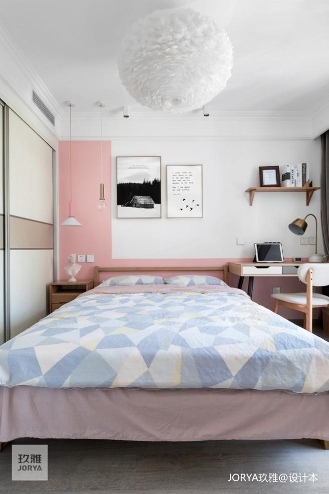 卧室低柜图片_8万元一居58平米装修案例_效果图 - 门厅柜移对面。让出餐区位还 ...