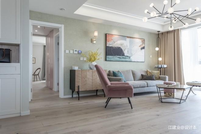 柔美高级灰——客厅图片