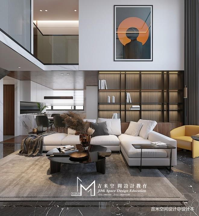 【吉米设计】复式——客厅图片