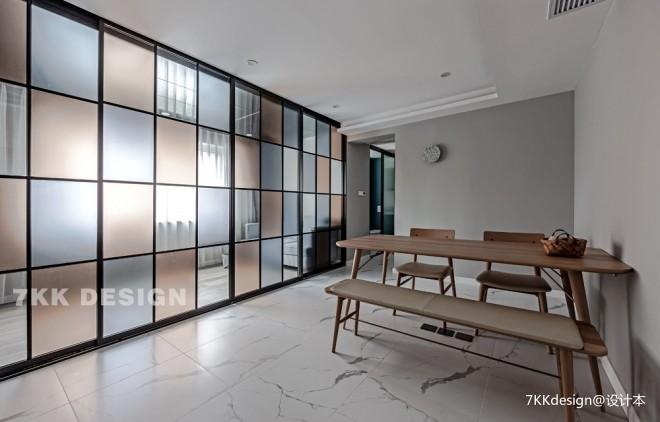 89平米現代簡約餐廳設計圖