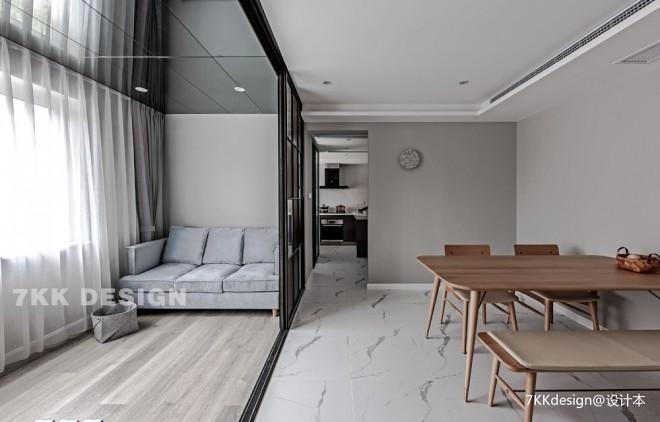 89平米現代簡約客餐廳設計圖