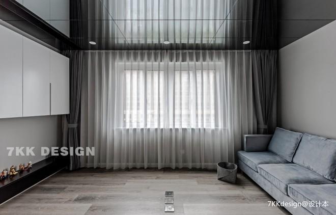 89平米現代簡約客廳設計圖