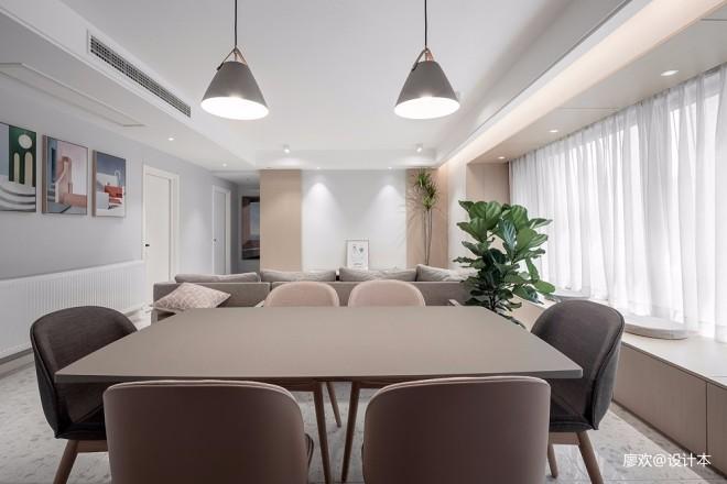 141平米现代简约——餐厅图片