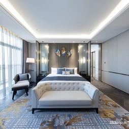 上海三甲港绿地铂瑞酒店空间设计——大床房图片