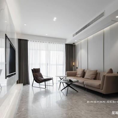 110平三居现代简约——客厅图片