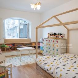 「粉蓝配色」让老房焕新春——儿童房图片