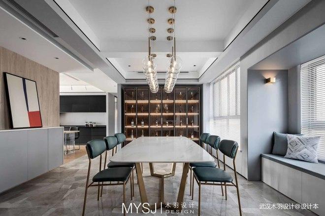 武汉木羽设计|现代雅致格调——餐厅图