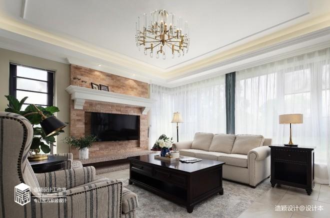 美式田园复式——客厅图片
