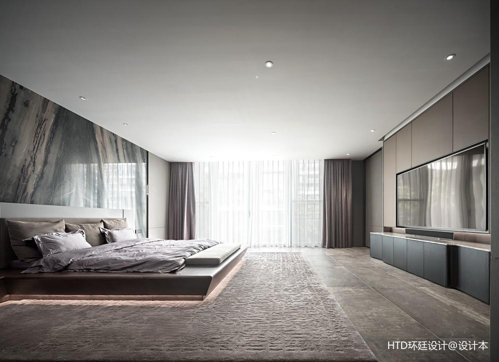 HTD新作 | 莫兰迪色演绎现代奢华空间——主卧图片