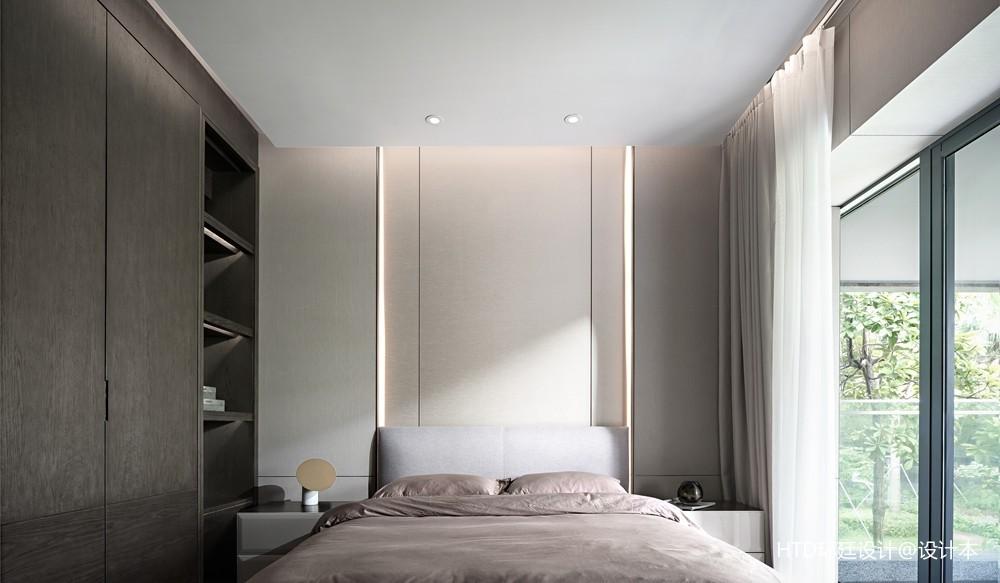 HTD新作   莫兰迪色演绎现代奢华空间——次卧图片