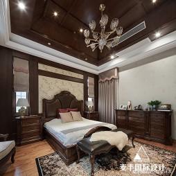 岁月筑芳华  420m²美式大宅——卧室图片