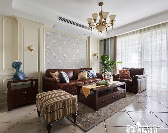 木色人生 185m²美式——客厅图片
