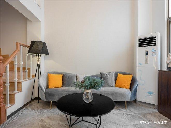 客厅图片——现代轻奢别墅,轻享白色畅