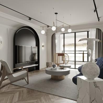 140平中式现代-客厅图片