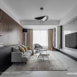 120平现代-客厅图片
