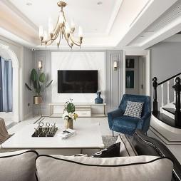 189平美式经典客厅图片