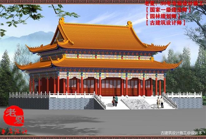 寺庙设计图施工图,寺院规划设计效果图