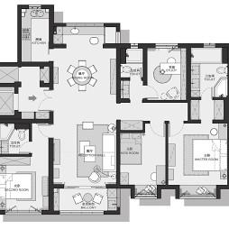 153㎡4室2厅3卫户型图