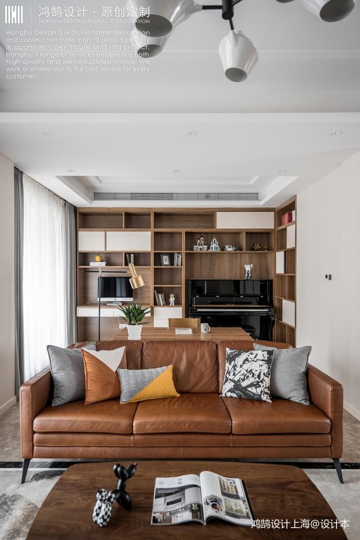客厅皮沙发装修效果图