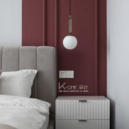 卧室床头硬包背景墙