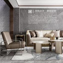 现代客厅豪装效果图