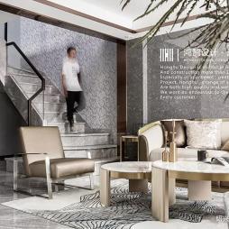 现代客厅豪华装修效果图