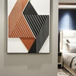 现代简约卧室挂画