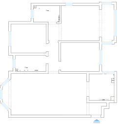 三室两厅两卫户型图片