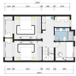 复式二楼户型图