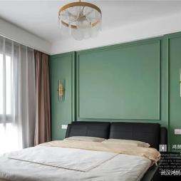薄荷绿卧室装修效果图