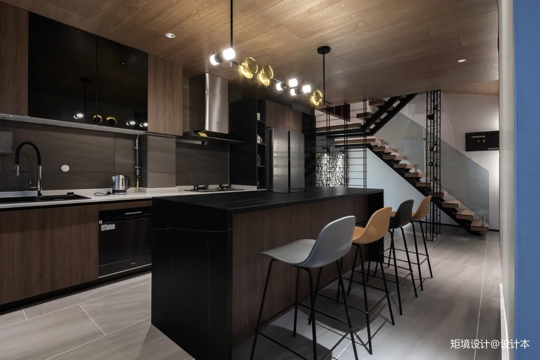 客厅餐厅厨房一体装修效果图
