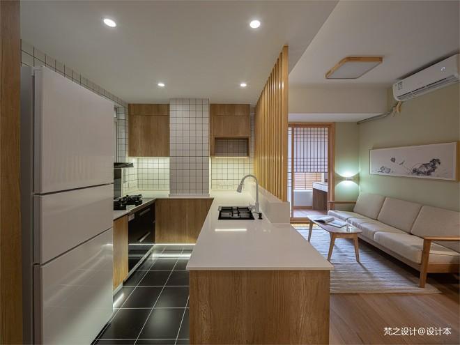 日式开放式厨房图片