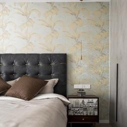 轻奢壁纸卧室背景墙