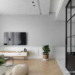 浅灰色电视背景墙