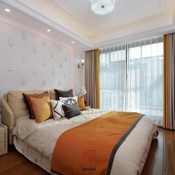 次卧室窗帘设计效果图
