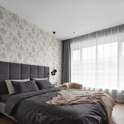 小窗户卧室窗帘效果图