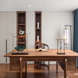 中式书房背景柜