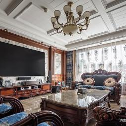 欧美式客厅装修效果图