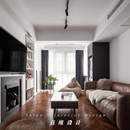 客厅地板装修图片