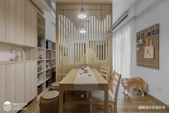 日式风餐厅客厅隔断图片