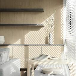 客厅隔板置物架效果图