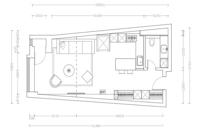 40 平米 黑白loft_15978