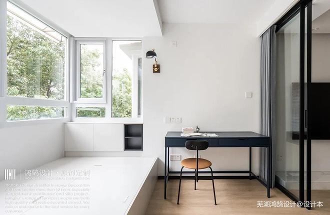 北欧两房空间妙用术:榻榻米+阳台+书