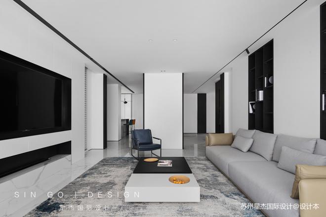现代风格客厅地毯设计图