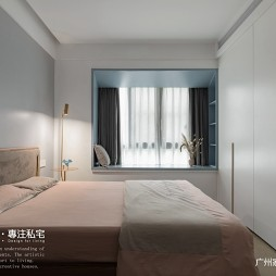 灰蓝色卧室背景墙图片