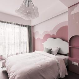 女儿房窗帘图片
