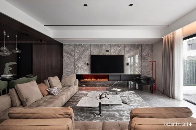 客厅大理石背景墙设计